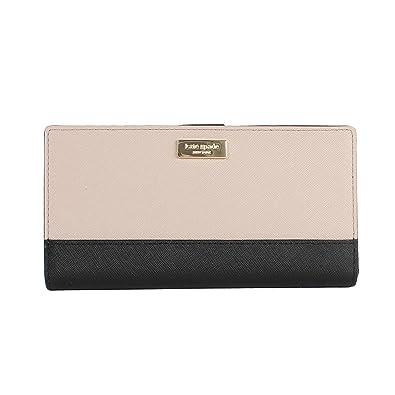 eab539f61e04 Kate Spade New York Laurel Way Stacy Snap Wallet (Almndne  Black)