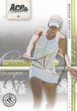 2007 Ace Authentic Straight Sets Tennis #41 Monique Adamczak TP RC at Amazons Sports Collectibles Store