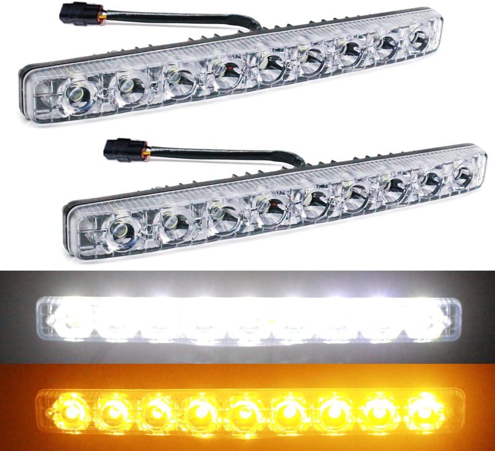 White 3LED 9W Daytime Running Light DRL Car Fog Lamp Day Lights Daylight Fine