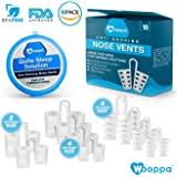 Snoring Solution Device by Wooppa 10 Pack Anti Snoring Nose Vents Stopper Reduce Nasal Dilators Easy to Wear Comfortable Silicone Ease Breathing Stop Snoring Aid Vents Restful Night Sleep Anti Snore