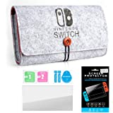 Fenker Carrying Case for Nintendo Switch Lite, Slim Felt Pouch + Screen Protector