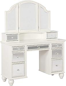 Coaster Home Furnishings 2-Piece Vanity Set, Beige/White