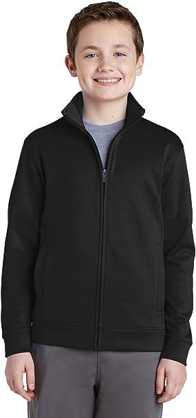Sport-Tek Youth Sport-Wick Fleece Full-Zip Jacket YST241