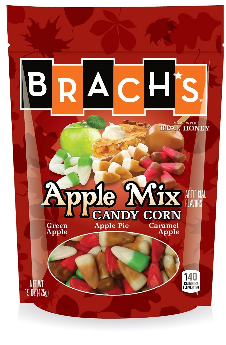 Brach's Apple Mix Candy Corn, 15 Ounce Resealable Bag (Pack of 1)