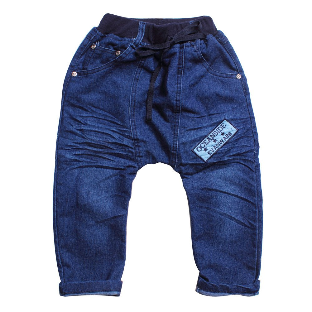 Little Girls' Boys' Pants Denim Baggy Loose Pockets Trousers Clothes Size 6-7