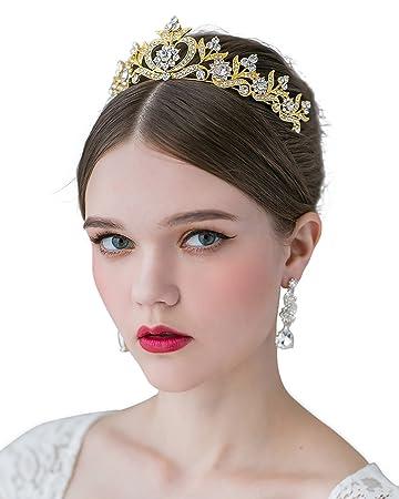 Amazon Sweetv Crystal Princess Crown Rhinestone Tiara Bridal
