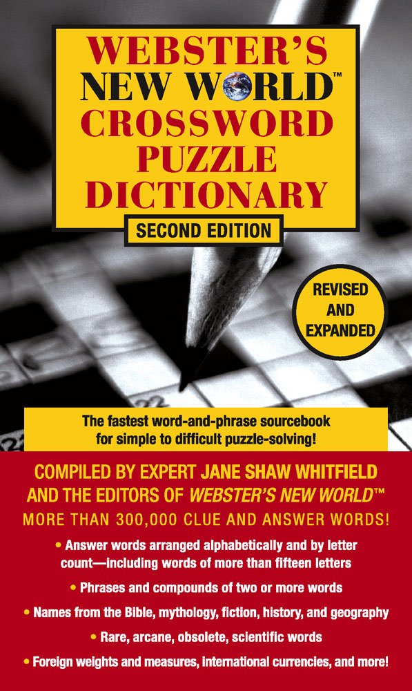 Webster's New World Crossword Puzzle Dictionary, Second Edition pdf epub