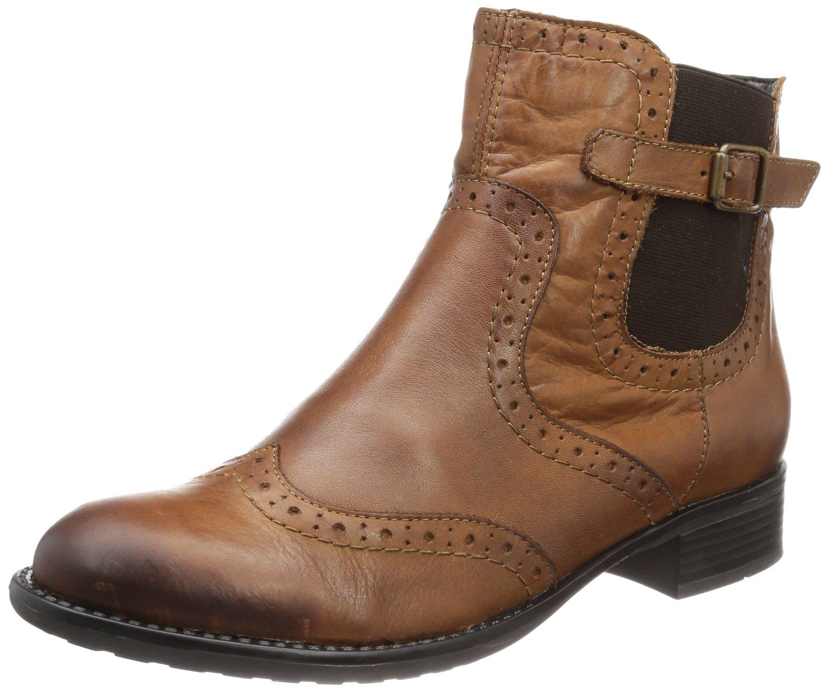 Remonte Women's Half Boots Muscat Brown Leder Uniform Dress Shoes 38