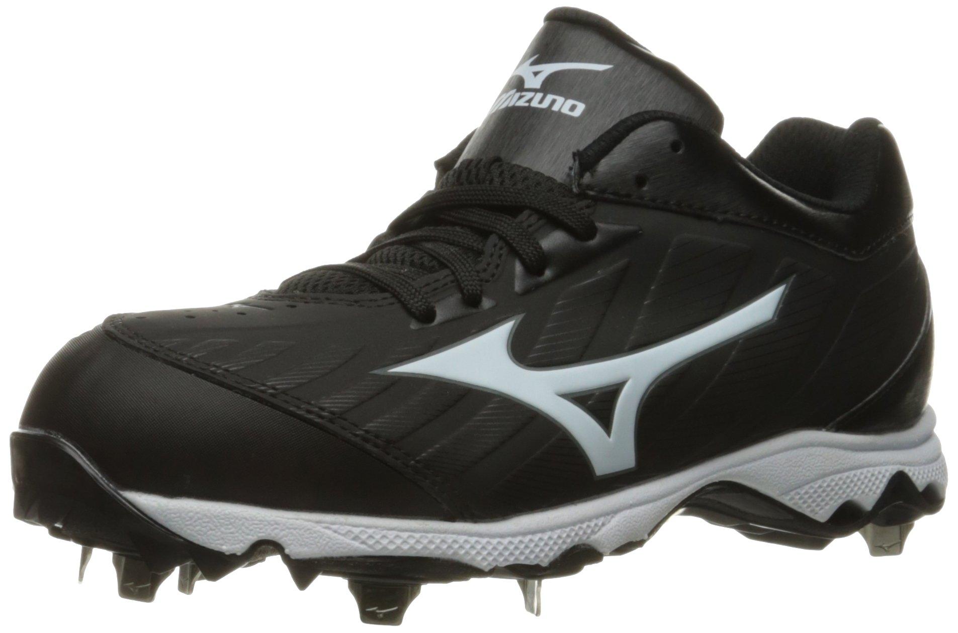 Mizuno Women's 9-Spike Advanced Sweep 3 Softball Shoe, Black/White, 6.5 D US