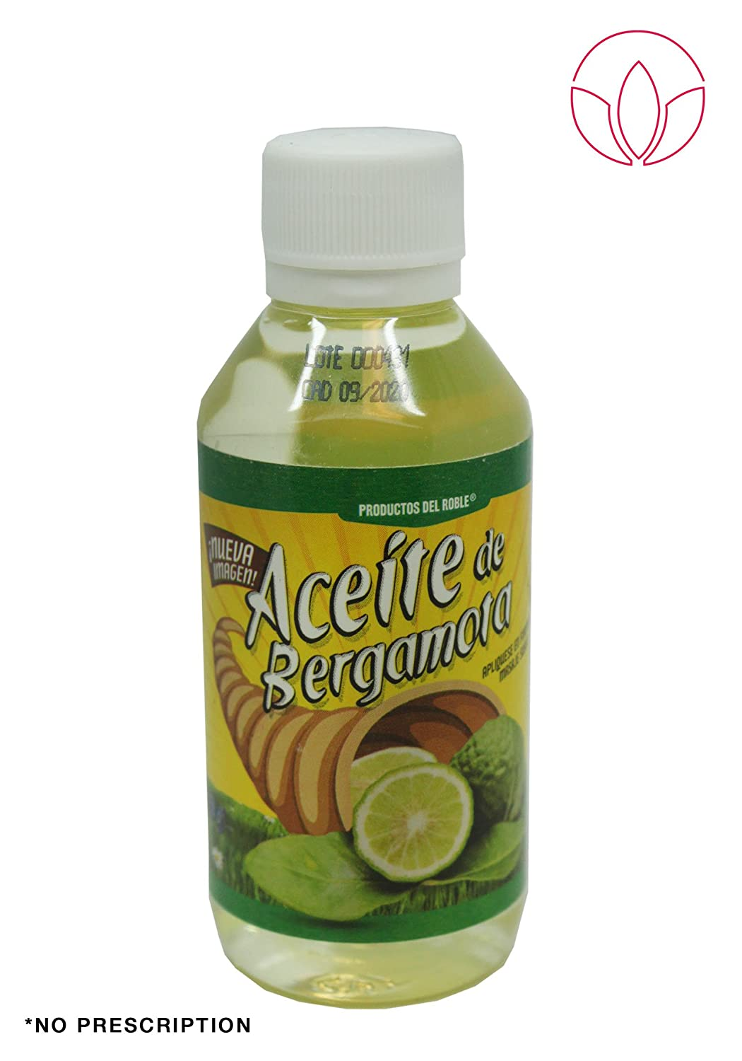 Aceite de bergamota 100% Natural Bergamot Oil 120 ml. Helps the growth of beard and mustache.