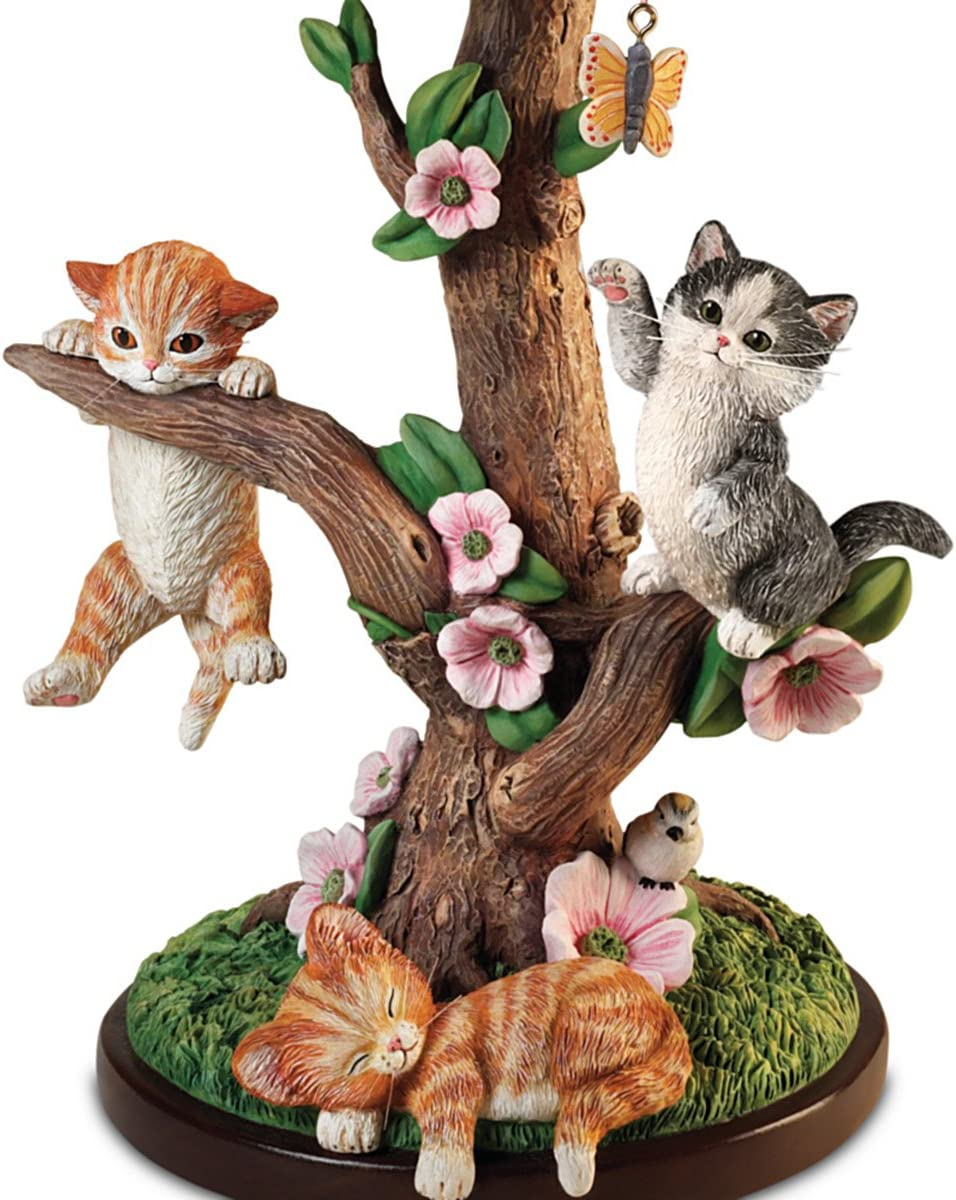 Jurgen Scholz Country Kitties Accent Table Lamp by The Bradford Exchange