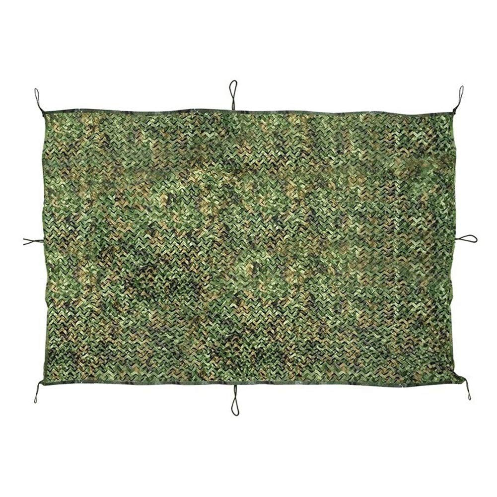 LSXIAO Shade Cloth Shading Net Sunscreen Light Filtering Camouflage Net Lightweight Oxford Cloth Outdoor Jungle Patio Facilities, 2 Sizes (Color : Camouflage Green, Size : 1.1x1.3m)