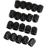 Bouchons de protection - TOOGOO(R)20pcs Bouchons de protection de valve en plastique Tubes de pneu pour velo moto voiture Van Noir