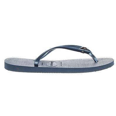 bdf8a7815 Image Unavailable. Havaianas Women Slim Diamond Sandals flip-Flop Indigo  Blue (37-38 M