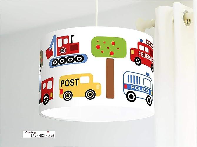 Lampe fürs Kinderzimmer, Jungs und Babys mit Autos Feuerwehr ...