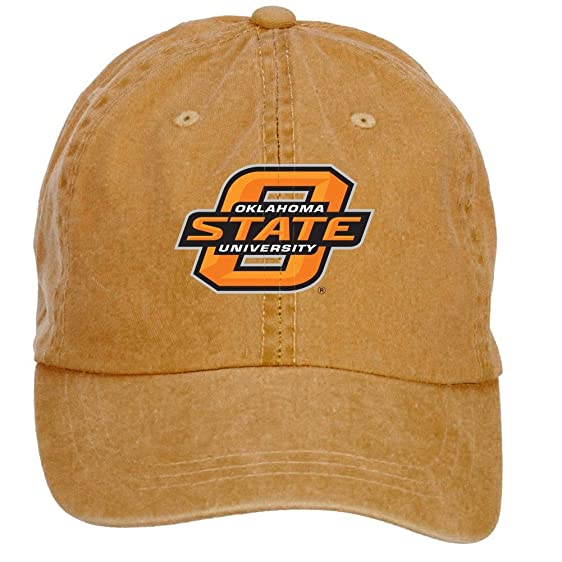 d40392898482a ... get zhengxing oklahoma state university stillwater cotton washed  baseball cap velcro adjustable one size colorname hats