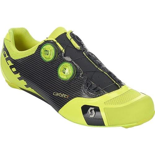 ce8f9cf002 Scott Road RC SL Cycling Shoe - Men s Black Neon Yellow