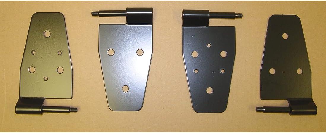 Lower Door Hinges Black Pair For Jeep Cj Wrangler Yj Tj 1976 To 2006 X 11202.03