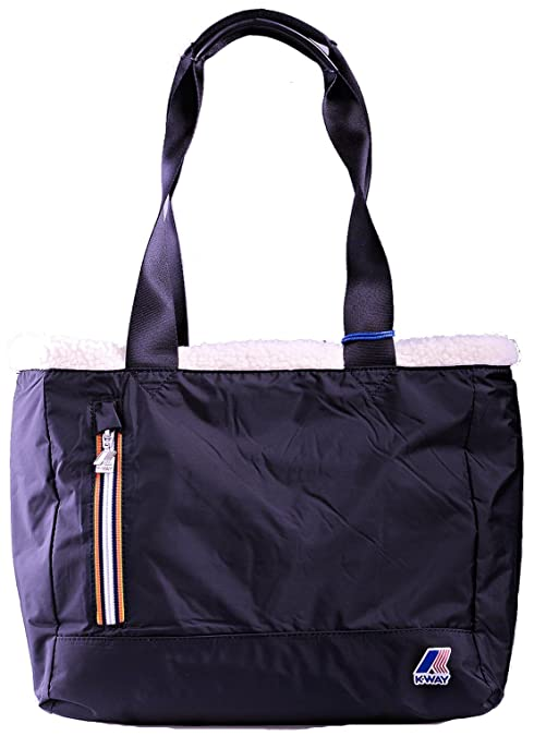 8f1d14be0255 Borsa Shopping Donna K-Way Bag Shopping Woman K-Bear E W Shopper k7402-Blu   Amazon.it  Scarpe e borse