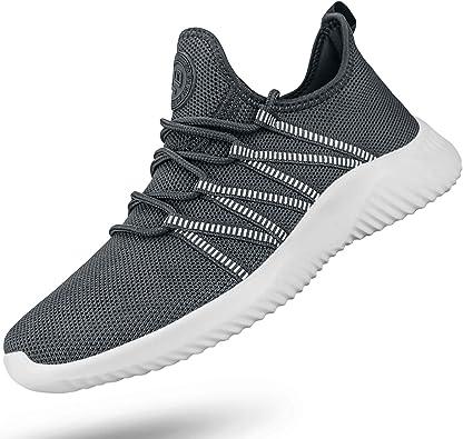 Feethit - Zapatillas de correr para mujer, antideslizantes, para caminar, ligeras, de gimnasio, Gris (gris), 36.5 EU: Amazon.es: Zapatos y complementos