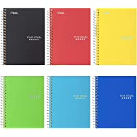 """Five Star Spiral Notebooks, 1 Subject, College Ruled Paper, 100 Sheets, 7 x 5"""", Personal Size, Colors Selected for You…"""