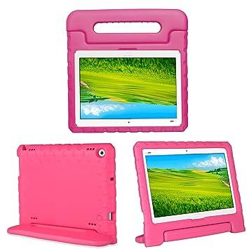 Kids Case Stand para Huawei MediaPad M3 Lite 10.1 Inch bah-09, I – Original Carcasa de Protección de Espuma EVA asa de Transporte Ligera Funda Soporte ...