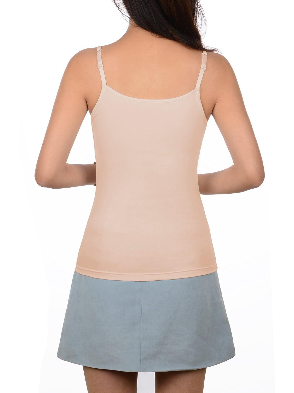 Satinior Women S Cami Camisole Built In Bra Adjustable