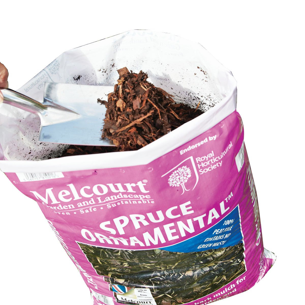 Melcourt Bark Mulch Spruce Ornamental 60L Bag Versatile Mulch Suregreen