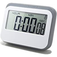 Digital Kitchen Timer Multifunction 4 Modes-Clock Countup Countdown Alarm. Large LCD Display. Exact to Second. for…