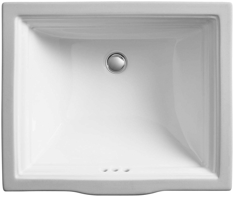 Diagram for innovations two handle bathroom faucet model 2350 series - Kohler K 2339 0 Memoirs Undercounter Bathroom Sink White Bathroom Sinks Amazon Com