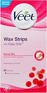 Veet Wax Strips with Easy Grip, Normal Skin, 20ct