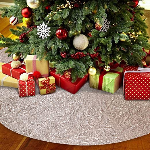 12 Inch Red Green Silver Sequins Mini Table Tree Skirt Christmas Decoration