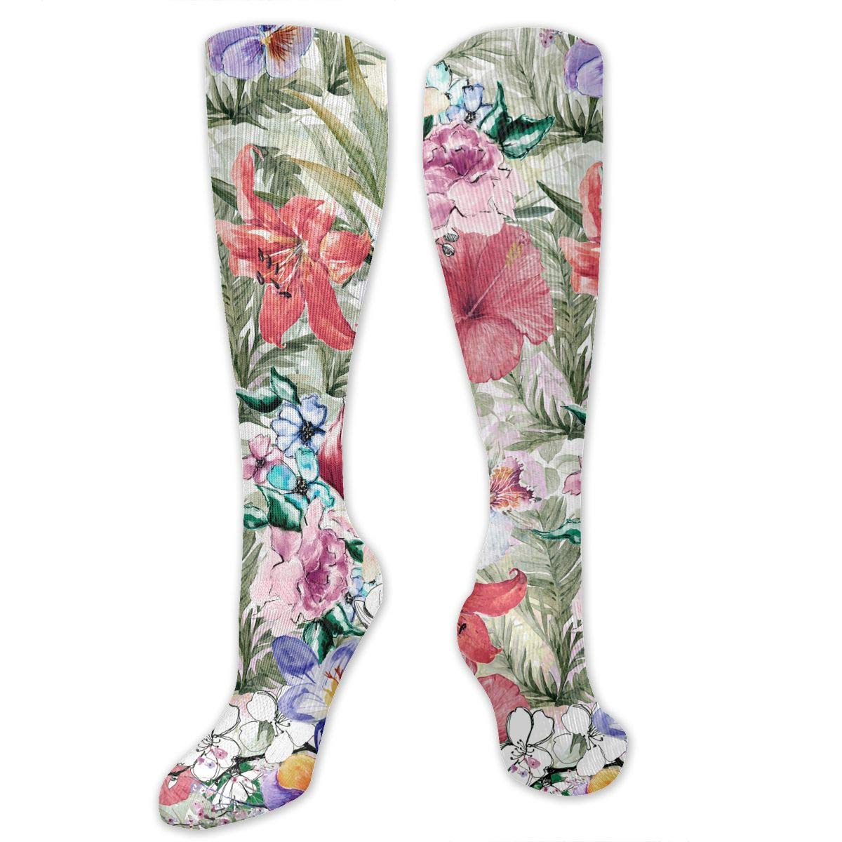 Mens athletic low cut Ankle sock tropical floral plants Short Sports Sock
