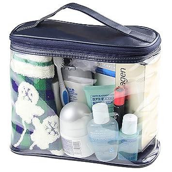 Amazon.com: iwuvu transparente bolsa de cosméticos TSA aire ...