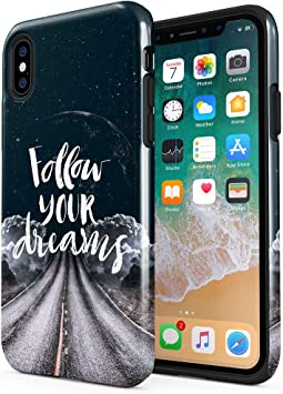 Maceste Follow Your Dream Road Moon Stars Compatible with Apple ...