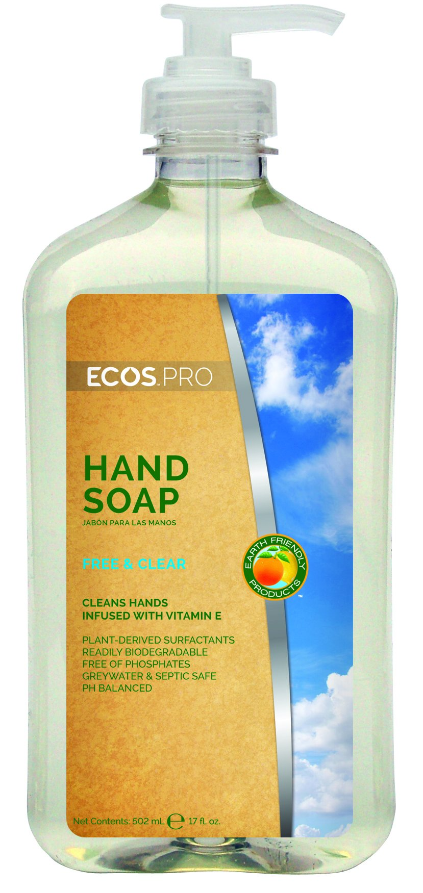ECOS PRO PL9663/6 Free and Clear Hand Soap (Pack of 6) by ECOS PRO