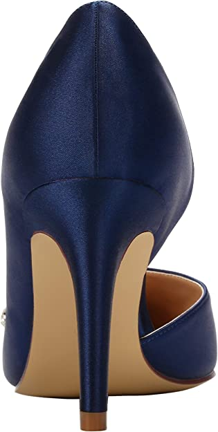 Womens Ladies Satin High Heel Party Fashion Toe Ankle Boots Smart Shoes RRP19.99