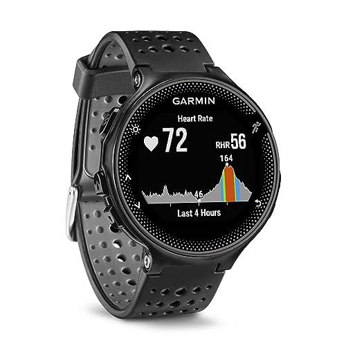 Garmin Forerunner 235 GPS Sportwatch con Sensore Cardio al Polso e Funzioni Smart, Nero/Grigio