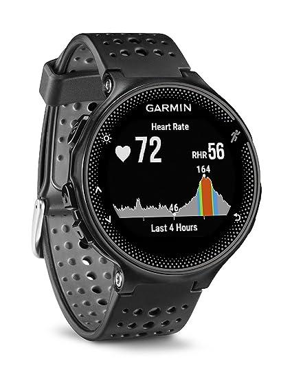 Garmin Forerunner 235 - Reloj con pulsómetro en la muñeca, Unisex, Color Negro y