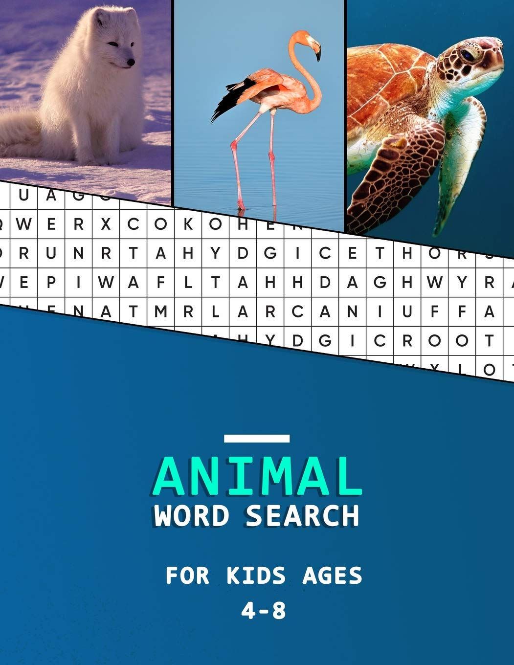Amazon com: Animal word search for kids ages 4-8: Big word