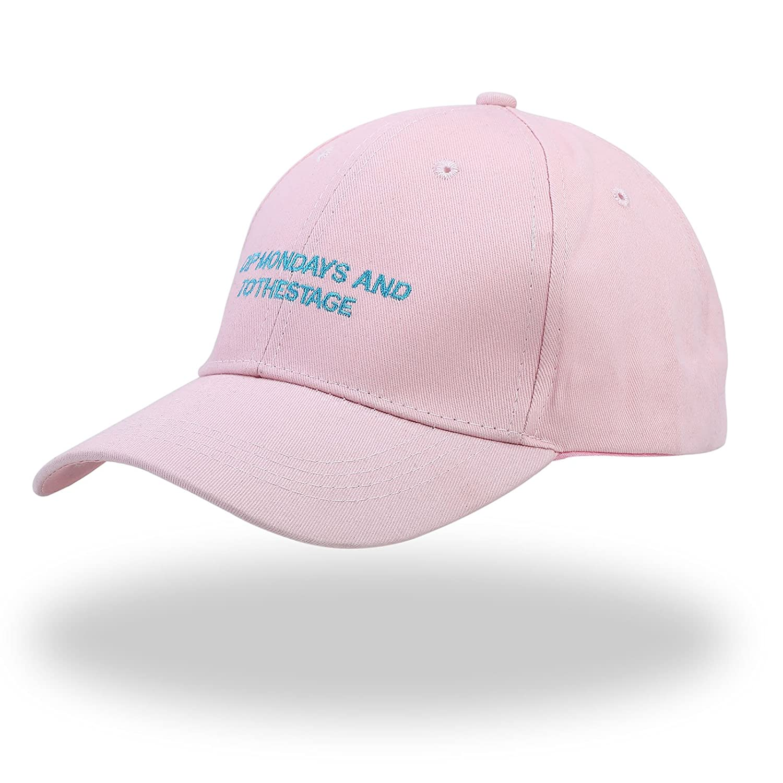 WELROG Women and Men Adjustable Cotton Baseball Cap-Love Heart Letter Unisex hat