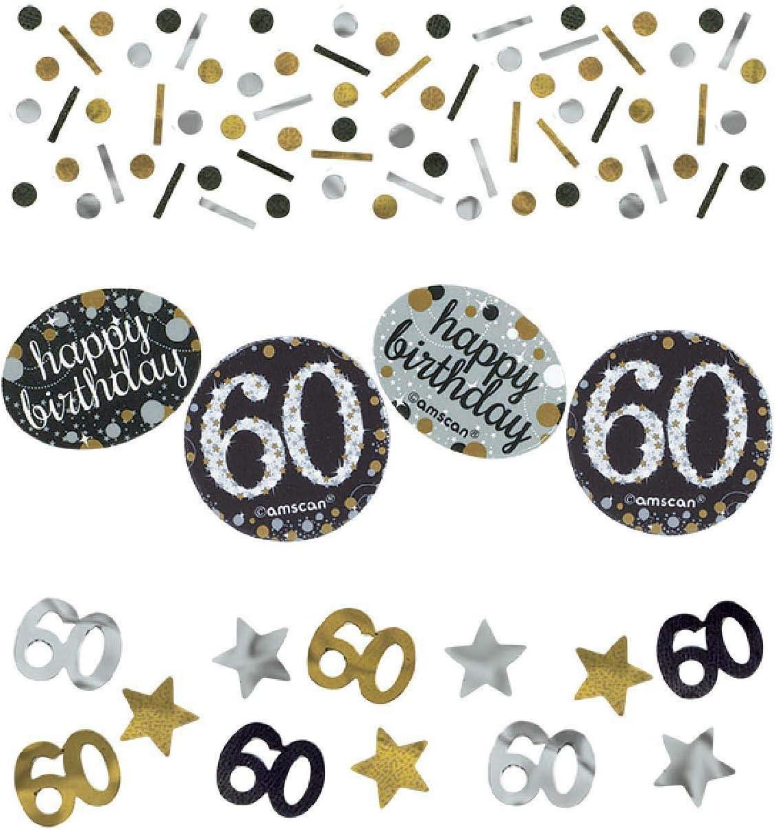 Amscan 360188 Confettis 60e Anniversaire Dor/é 34/g
