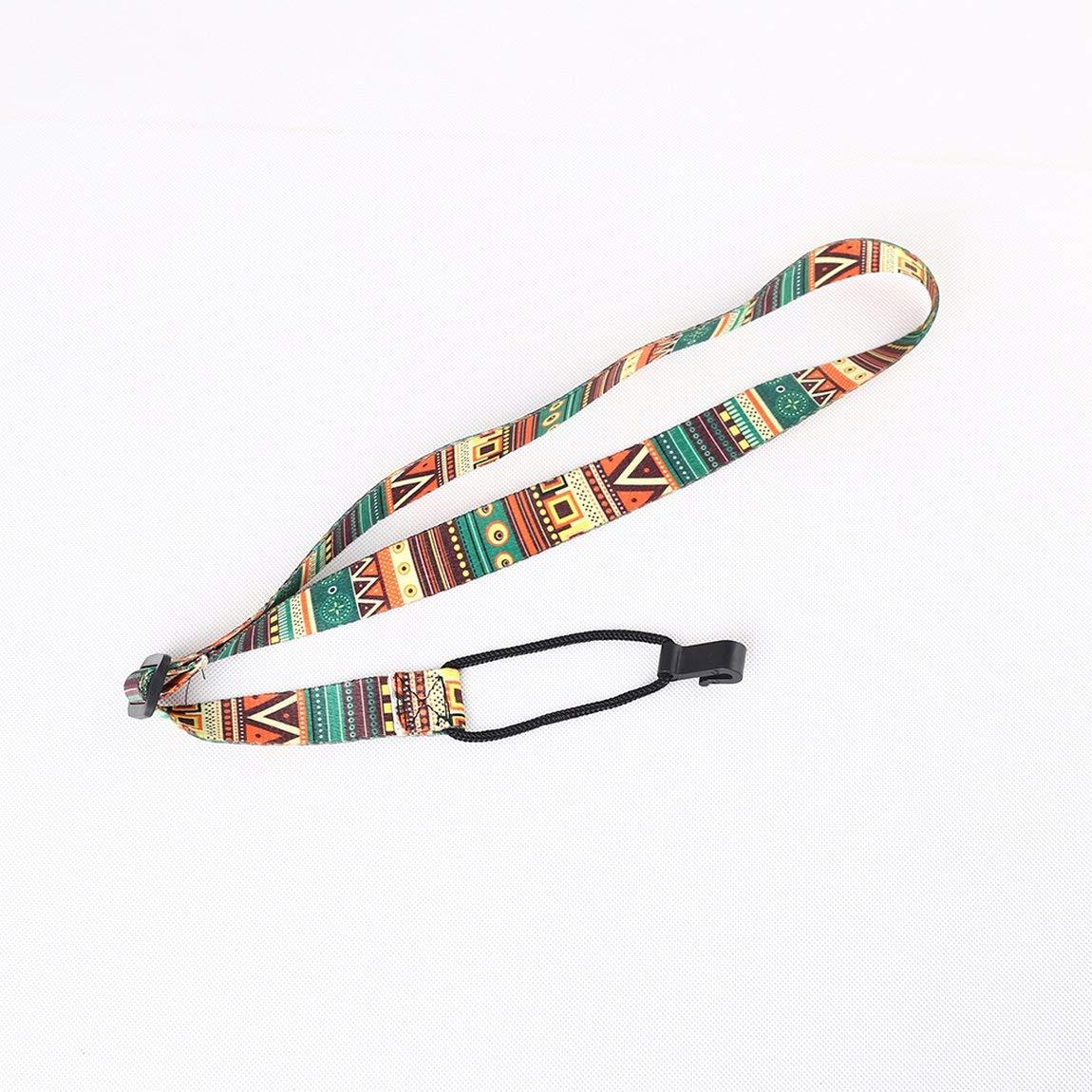 Correa de guitarra de estilo /étnico Correa de hombro de ukelele ajustable Cintur/ón de correa para el cuello y color: multicolor