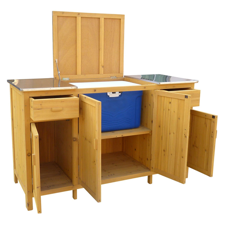 Amazon.com : Buffet Server with Cooler Compartment : Garden