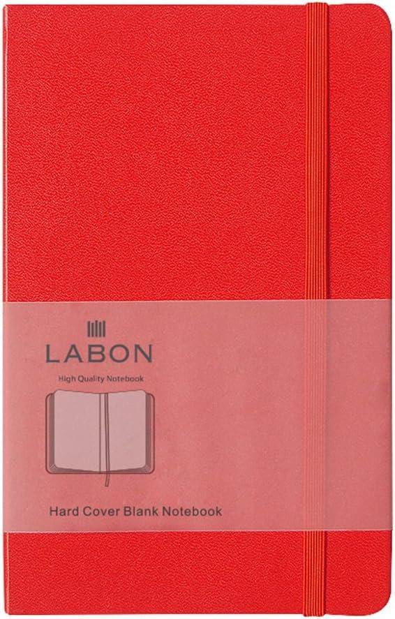 A5 Vert, Blanc Labons Couverture Rigide Carnet Haute Qualit/é /Épais Papier Journal Corde /Élastique Extensible Poche Notebook