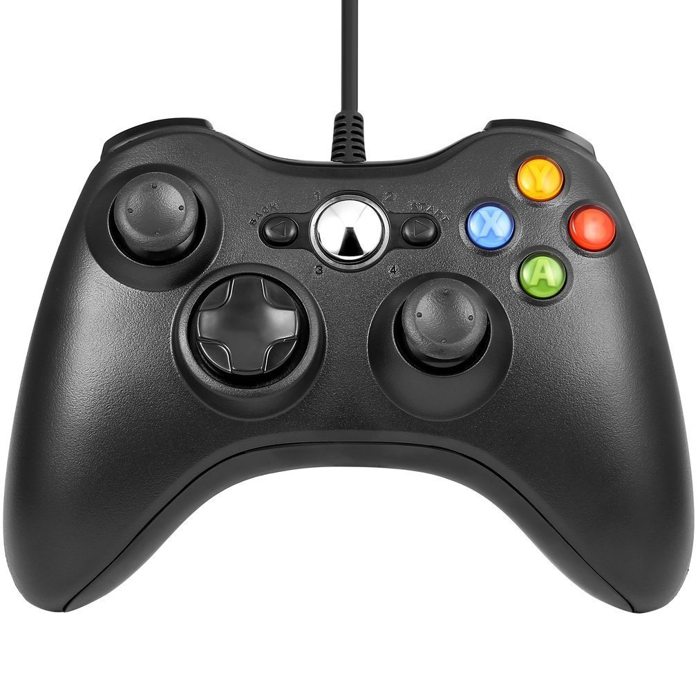 Wired Controller for Xbox 360,Lyyes Xbox 360 Wired Controller USB Xbox Gamepad Joysticks for Windows & Xbox 360 Console (Black)