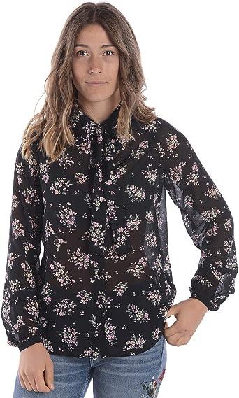 Liu Jo - Camisa Mujer W18286T9746 W18286T9746 Negro: Amazon.es: Ropa y accesorios