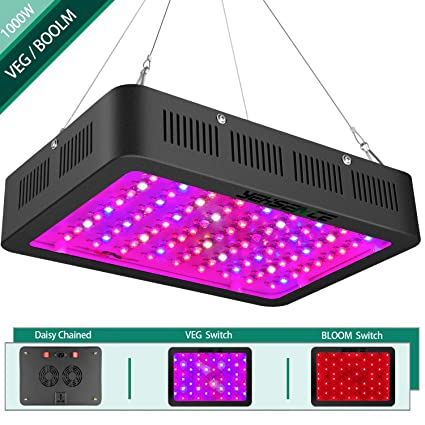 1000w LED Grow Light with Bloom and Veg Switch,Yehsence Daisy Chained LED  Plant Growing Lamp Full Spectrum with (15W LED) Triple-Chips for