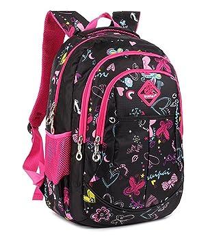 Backpack Mochilas Escolares,Mochilas escolares niños Mochila de niños Mochila escolar chica Niños Niñas Estudiante Mochila Escolar - Negro: Amazon.es: ...