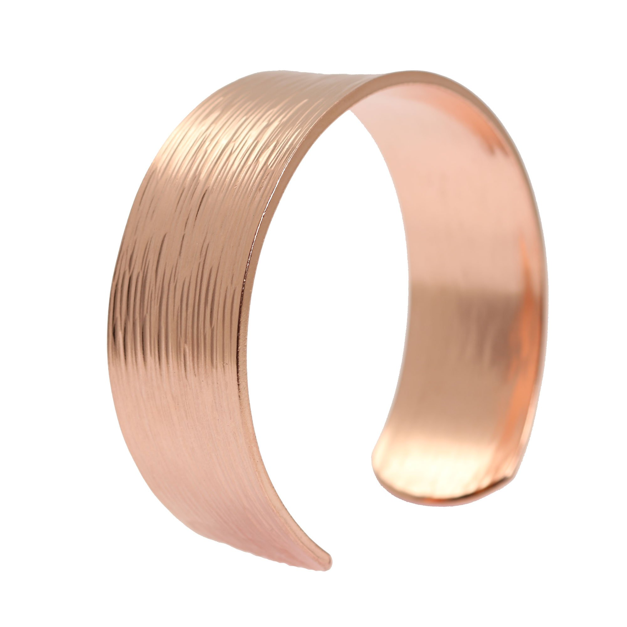John S Brana Designer Jewelry Chased Copper Cuff Bracelet - 100% Solid Copper - 7 Year by John S Brana Designer Jewelry